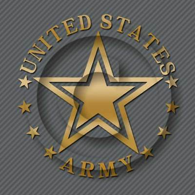 US Army Decal Military Veteran Car Truck Window Sticker Seal ()