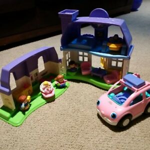 Fisher-Price Little People Happy Sounds Home and Van