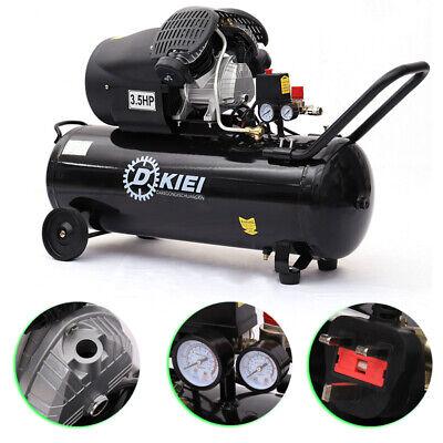 Garage 3.5HP Black 100L Litre Air Compressor 8 Bar 14.6CFM Engine with Wheels