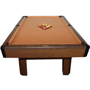 8' Brunswick Covington slate pool table