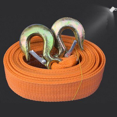 8 Tons Car Tow Cable Towing Strap Rope with Hooks Emergency Heavy Duty 20 FT ()