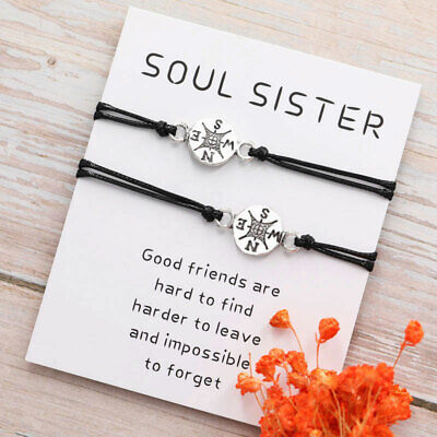 Best Friend Gifts for Her Friendship Compass Bracelet for Him Couples
