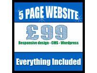 Website design - Web domain and hosting included - Mobile friendly web design - E commerce Website