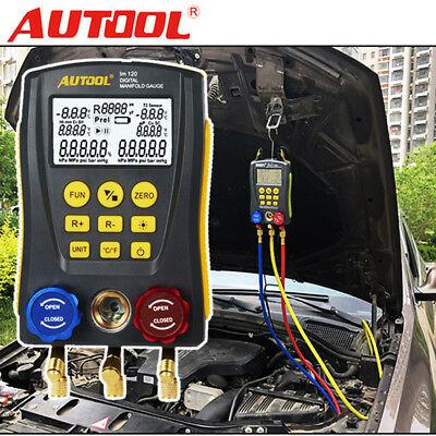 Used, Digital Meter HVAC Gauge Vacuum Pressure Temperature Refrigeration Leak Tool USA for sale  USA