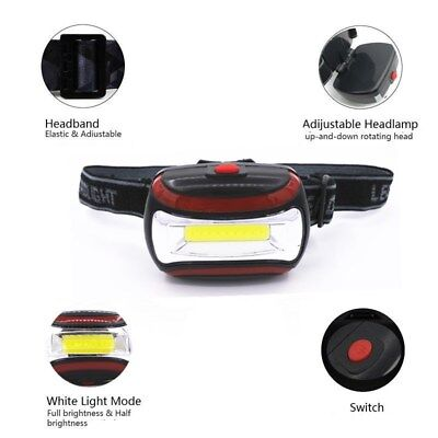 60g Adjustable Headband Cool White Light AAA Headlight 3 Modes COB LED Headlamp - Headband Light