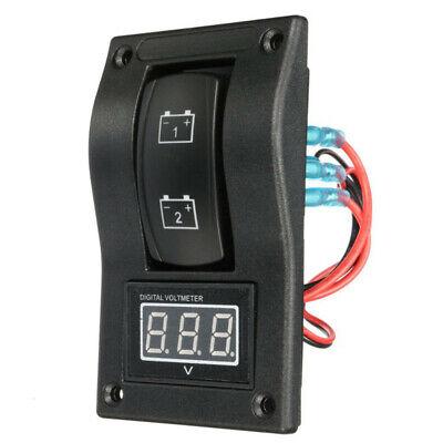 Panel de prueba de bateria doble LED 12-24V Interruptor basculante Voltime N9K2
