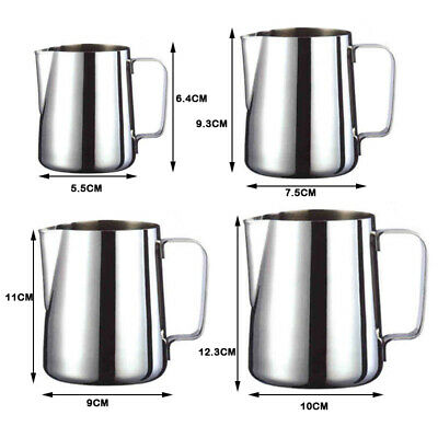 JAP Milk Frothing Pitcher Stainless Steel Espresso Steaming Pitcher for (Stainless Steel Frothing Steaming Pitcher)