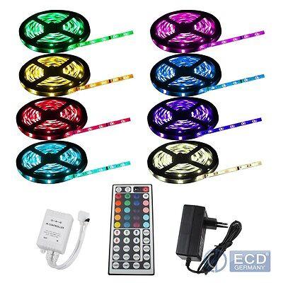 5m RGB LED STRIP BAND LEISTE STREIFEN LICHTKETTE 5050 SMD 30 LEDs WASSERDICHT