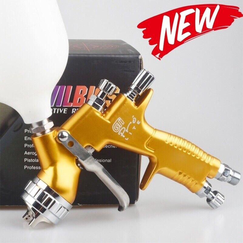 DEVILBISS TE20 GTI Pro Lite Spray Gun Professional Paint Gun 1.3mm Nozzle Gold