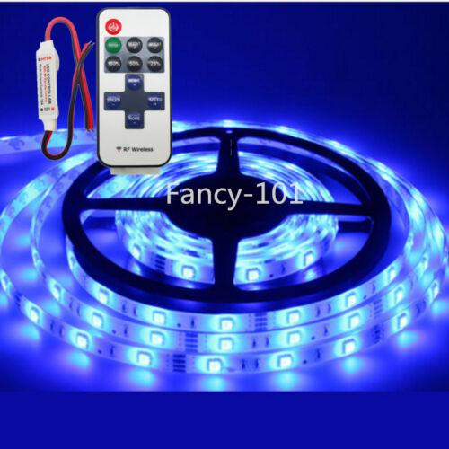 For Boat / Truck / Car/ Suv / Rv Blue Wireless Waterproof LED Strip Light 16ft