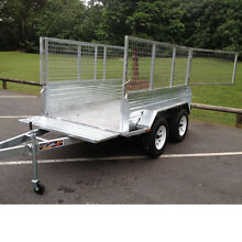 10ft x 5ft DUAL AXLE GALVANISED BOX TRAILER with 400mm SIDES Garbutt Townsville City Preview