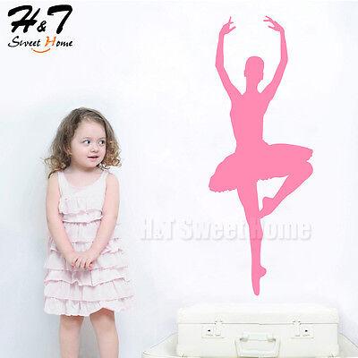 Ballet Dancer Ballerina Vinyl Wall Sticker Decal Girls Room Nursery Art Decor