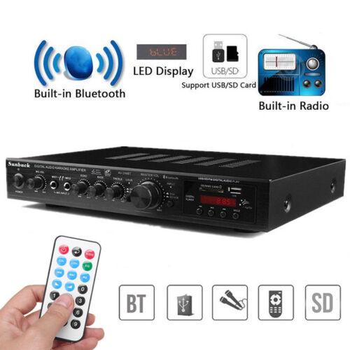 720W HiFi Verstärker Bluetooth Stereo-Vollverstärker Audio Endstufe mit Adapter