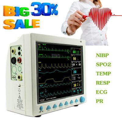 12.1 Icu Patient Monitor Multi-parameter Ecg Nibp Spo2 Pr Resp Temp Hospital