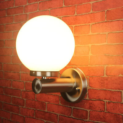 10W LED Outdoor Light Fixture Wall Lamp Bulb Stainless Steel Patio Gate Garage
