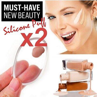 Make-up Schwamm Beauty Blender Abwaschbar Silikon Sponge 2Stk.