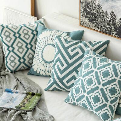 Stripe Pillowcase Cushion Case Home Decoration Cotton Linen Cushion Cover Gift Cotton Stripes Decorative Pillow