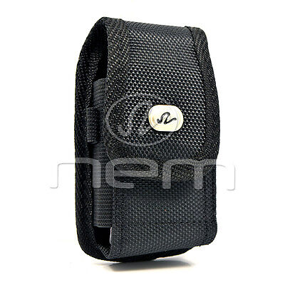 Black Vertical Heavy Duty Rugged Cover Belt Clip Side Case Pouch For Nokia C2-05 05 Black Vertical Pouch