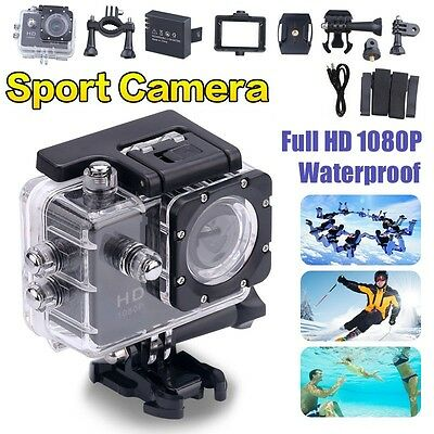 Waterproof Full HD 1080p Sports Action Camera Video Helmet Cam Bike DVR UK Stock