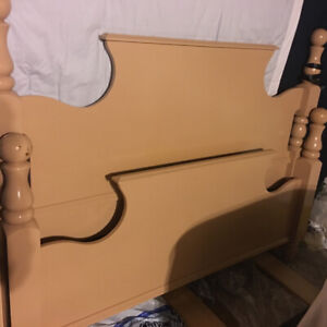double bed with mattress and spring box