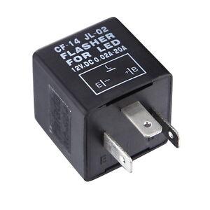 LED Blinker Relais Blinkrelais Flasher Lampe 12V 0.02-20A Lastenunabhängig