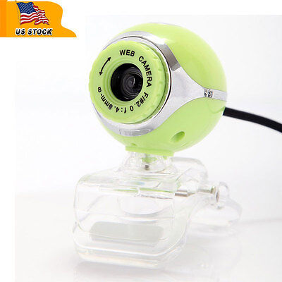USB 50.0M HD Webcam Camera Web Cam With Mic for Desktop PC Laptop Computer Green on Rummage