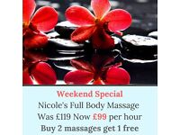 My weekend Special £99 - Independent Full Body Massage - Marylebone station -link to website