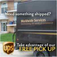 FREE PICK-UP on items you want shipped!