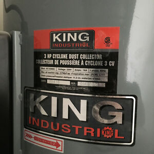 King Industrial 3 HP Dust Collector North Shore Greater Vancouver Area image 2