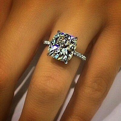 1.60 ct. Cushion Cut Natural Diamond U-Pave Engagement Ring GIA H, VS2 14k NEW 3