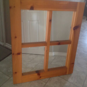 Pine framed mirror 30ins x 36ins