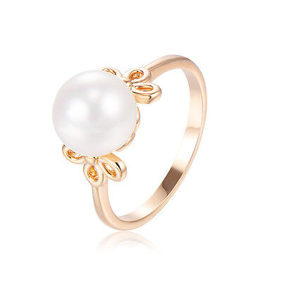 14k Gold Childrens Ring - Kids jewelry Childrens Princess 14k gold plated Pearl Ring Size 3.5 wholesale