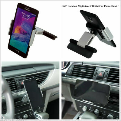 1pc Car CD Slot Holder Mount For Cell Phone iPhone Samsung Sat Nav GPS Universal