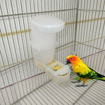 Pet Bird Feeder Automatic Food Water Feeding Drinker Parrot Clip Dispenser Cage