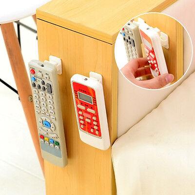 2Pcs ABS TV Remote Control Organizer Hook Control Seat Storage Stand Holder