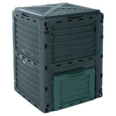 Large Plastic Compost Waste Bin Organic Eco Friendly Recycling 300L Garden Black