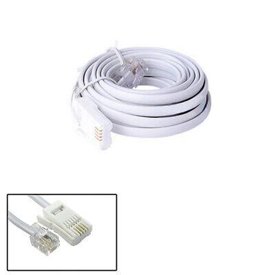 4.5m RJ11 to BT Cable Lead Modem FAX Telephone Plug BT Socket 4 Pin Straigh Fm