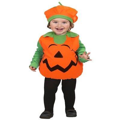 KÜRBIS Kinder Kostüm Halloween Kleinkind 2tlg Oberteil + Mütze Pumpkin (Kleinkind Kürbis Halloween Kostüme)