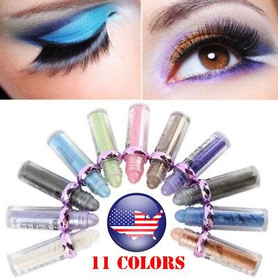 US ROLL ON EYE  Eyeshadow Glitter Pigment Powder Body Fast Makeup 11Color
