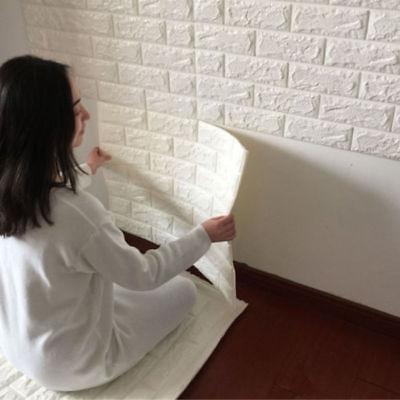 3D Brick Pattern Wallpaper Sticker Living Room Modern Wall Background TV Decor (Room Background)