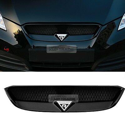 Front Radiator Hood Emblem Mesh Grille unpainted for HYUNDAI 09-12 Genesis Coupe