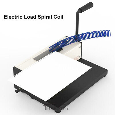 Desk Calendar Notebook Maker Plastic Spiral Coil Binding Machine 110v Office New