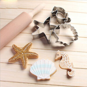 Mermaid/undet the sea cookie cutters set of 4