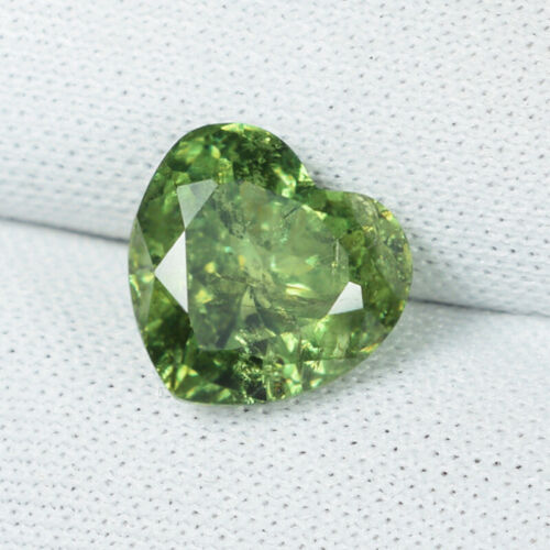 3.10 ct DAZZLING RARE YELLOW GREEN NATURAL ANDRADTIE DEMONTOID GARNET C VDO D11