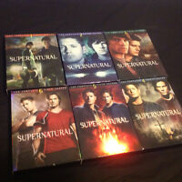 6 seasons of supernatural DVD lightly use if at all