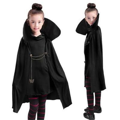 Hotel Transylvania Mavis Vampire Costume Party Fancy Girls Black Cape Birthday  - Hotel Transylvania Mavis Costume