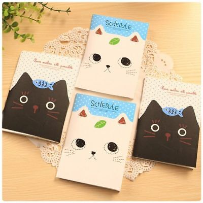 Cute Cartoon Cat Notebook Hard Cover Paperback Book Diary Notepad - Cute Notebook