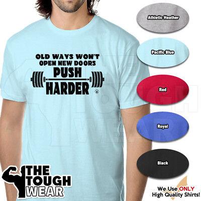 OLD WAYS WON'T OPEN NEW DOORS Gym Rabbit T Shirt 6 colors Workout Fitness (Old Ways Won T Open New Doors)