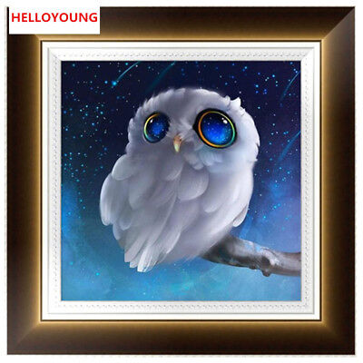 DIY Diamond Painting 5D Diamond Embroider Cool Owl Cross Stitch Kits Home Decor for sale  Shipping to India