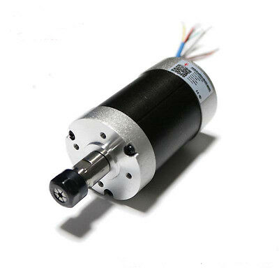 500w Brushless Spindle Motor Er11 Air Cooled 24v Dc 12000rpm High Speed Cnc